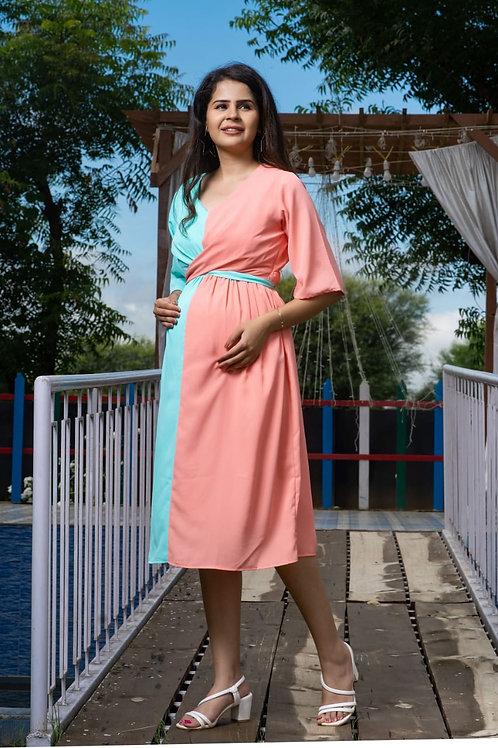 Sunday midi maternity and nursing dress