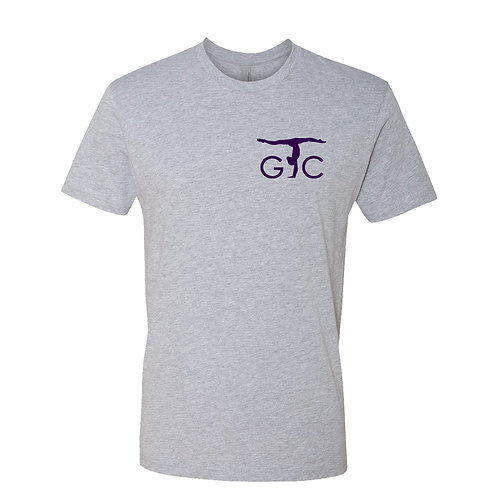 Adult Premium Short Sleeve Crew (grey/purple imprint)