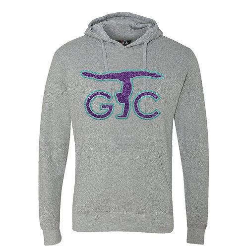 Adult JAmerica Cloud Fleece Hooded Sweatshirt (purple/teal)