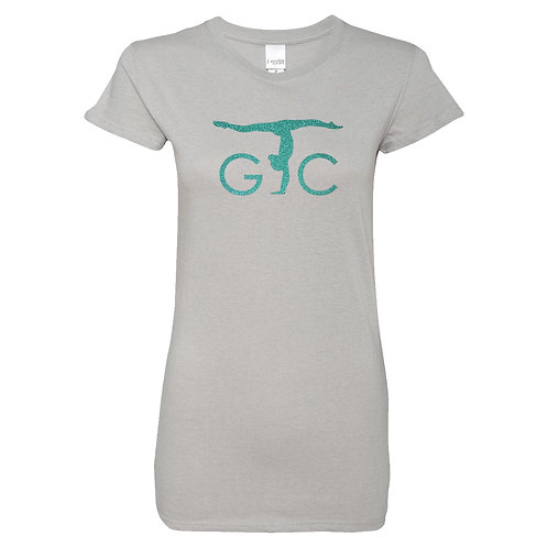 Adult JAmerica Glitter Woven Tee (teal imprint)