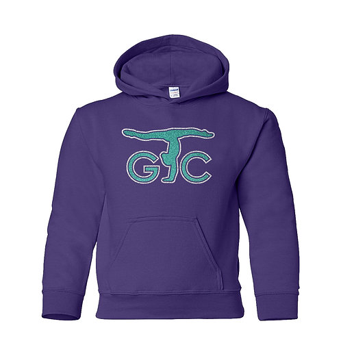 Youth Gildan Purple 50/50 Hooded Sweatshirt