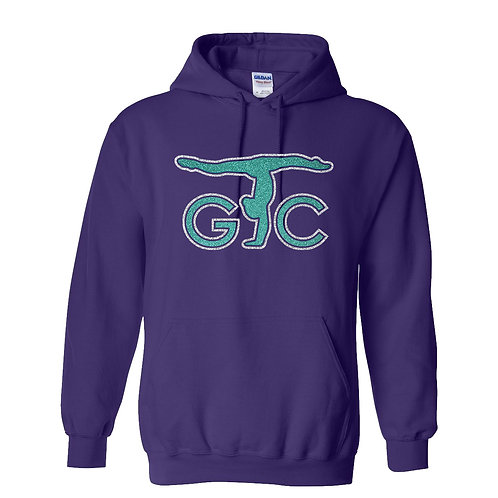 Adult Gildan Purple 50/50 Hooded Sweatshirt
