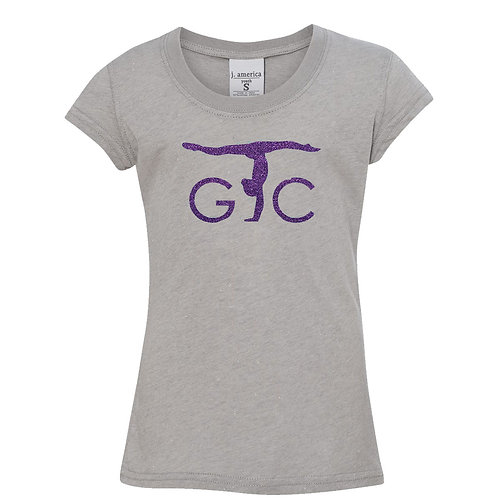 Adult JAmerica Glitter Woven Tee (purple imprint)