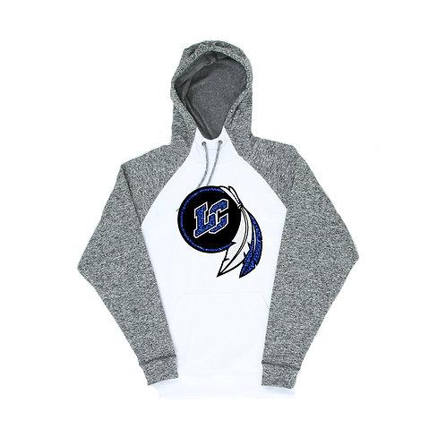 Glitter-Unisex Color Block Hooded Sweatshirt