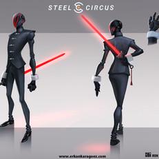 Steel circus character design, Schroeder