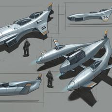 Aircraft design concept drawing