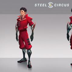 Steel circus character design, Kenny Zhu