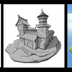 Castle sketch progress