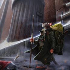 Bounty Hunter Rat Illustration