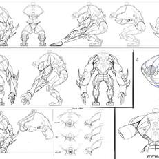 Acrid character modelsheet