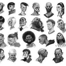 Head exploration sketches
