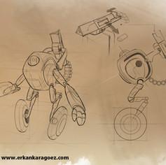 Steel circus character design, Cap