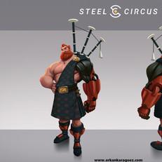 Steel circus character design, Lochlan