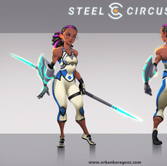 Steel circus character design, Mali