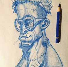 hipster frankenstein sketch