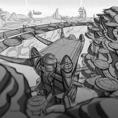 Mars arena concept drawing