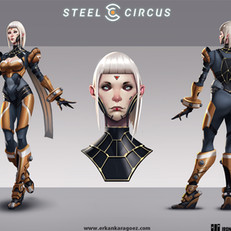 Steel circus character design, Galena