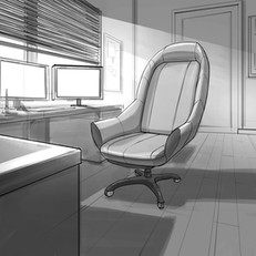 Interior perspective drawing
