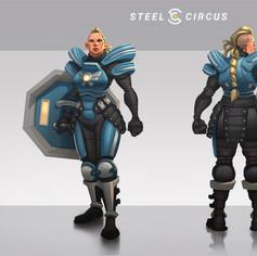 Steel Circus character design Hildegard