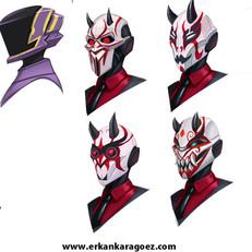 Mask exploration sketches