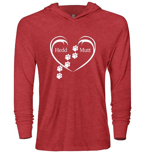HMF Next Level Tri‑Blend Hooded Long Sleeve T-shirt
