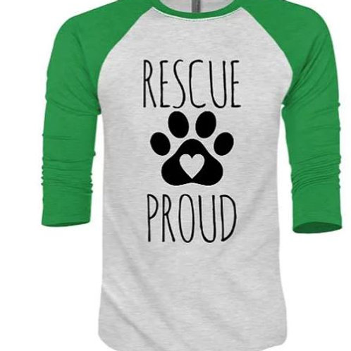 Rescue Proud Baseball Tee
