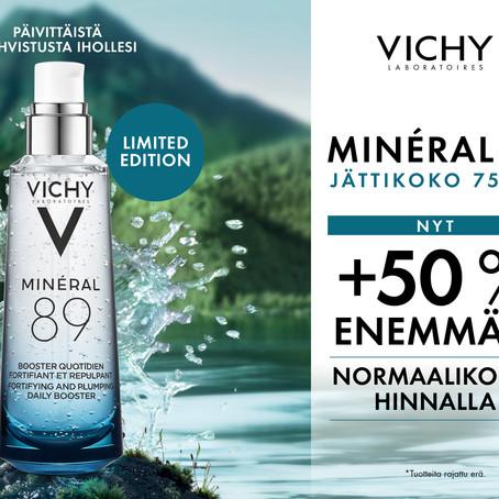 Mineral 89 jättikoko normaalikoon hinnalla