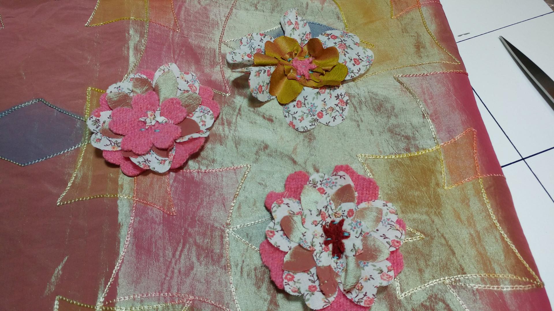 Raw Edge Flower Cushion
