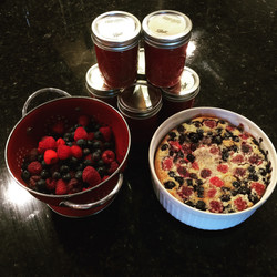 Mixed Berry Clafoutis