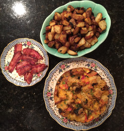 Fritatta with Bacon and Homefries