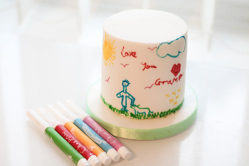 Draw on a White Cake