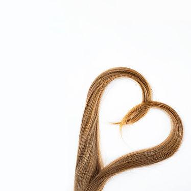 long blond hair donation put like heart