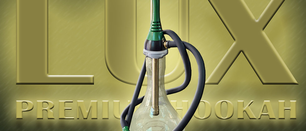 Lux On The Go Premium Hookah - Green and Gold