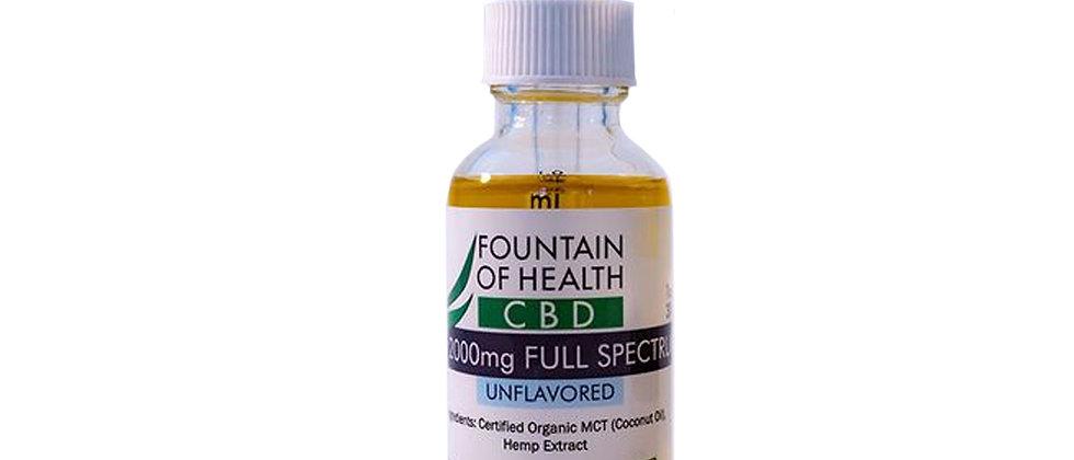 Fountain of Health 2000mg Full Spectrum CBD Tincture