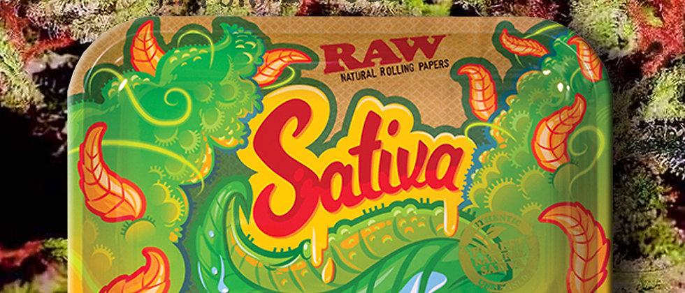 RAW Sativa Strain Rolling Tray