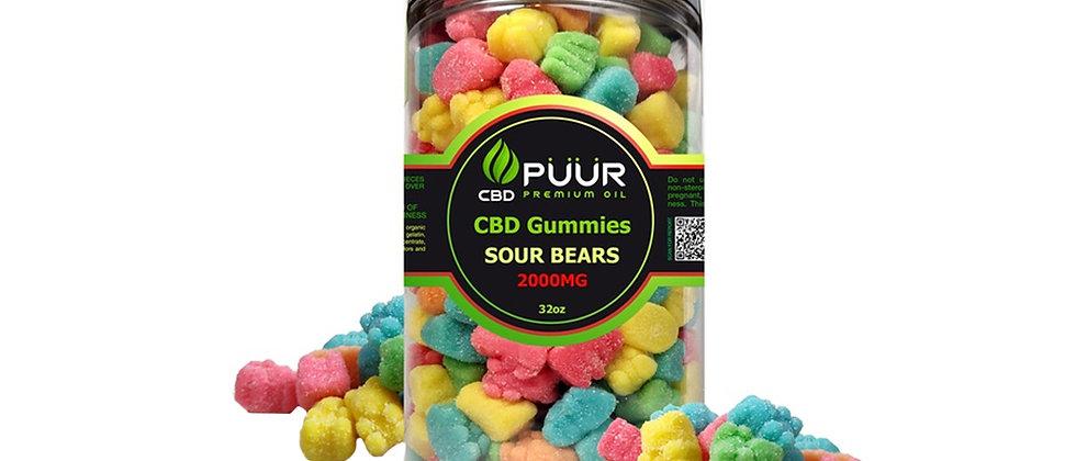 PUUR CBD Gummies 2000mg