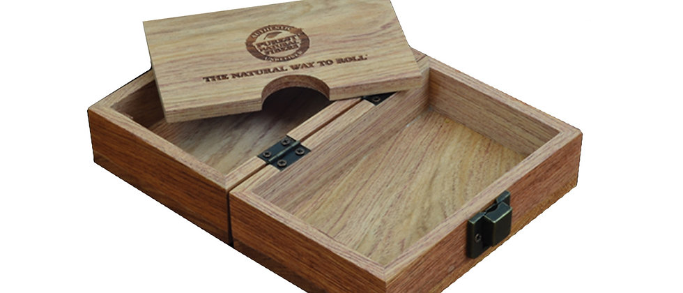 RAW Home Storage Wooden Rolling Box
