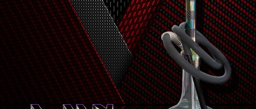 Lux On The Go Premium Hookah - Iridescent and Carbon Fiber