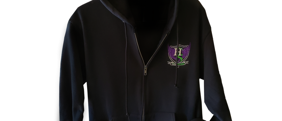 Official HS Zip Up Hoodie - Black