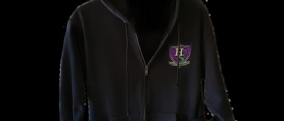 Official HS Zip Up Hoodie - Black