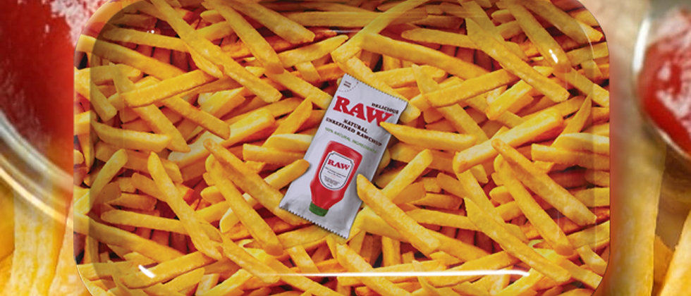 RAW Fries and Ketchup Rolling Tray
