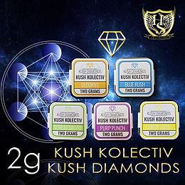Kush Kolectiv Delta 8 Diamond 2g Art 1.j