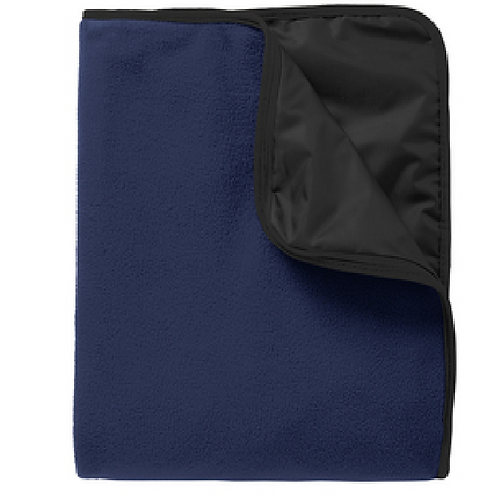 Port Authority® Fleece & Poly Travel Blanket with screen printed logo
