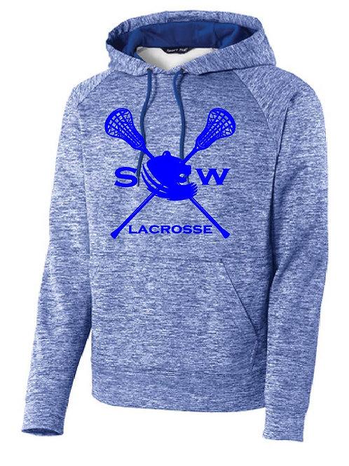 Sport-Tek® PosiCharge® Electric Heather Fleece Hooded Pullover