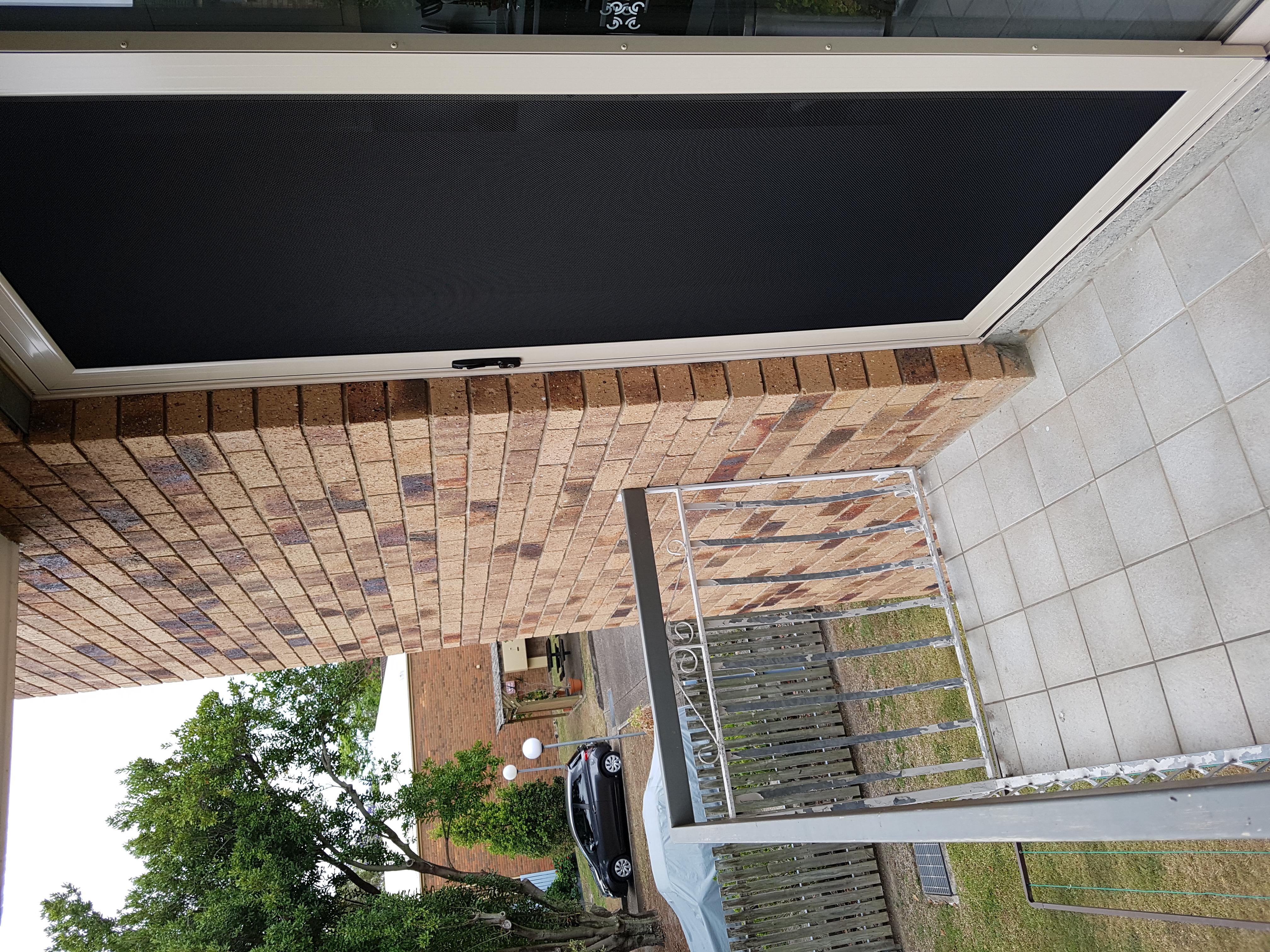 Coorparoo - sliding security door to balcony
