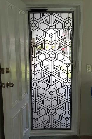 Decoview lasercut aluminium door Cube 2