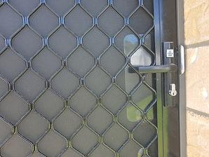 Prowler Proof diamond grille security door handle