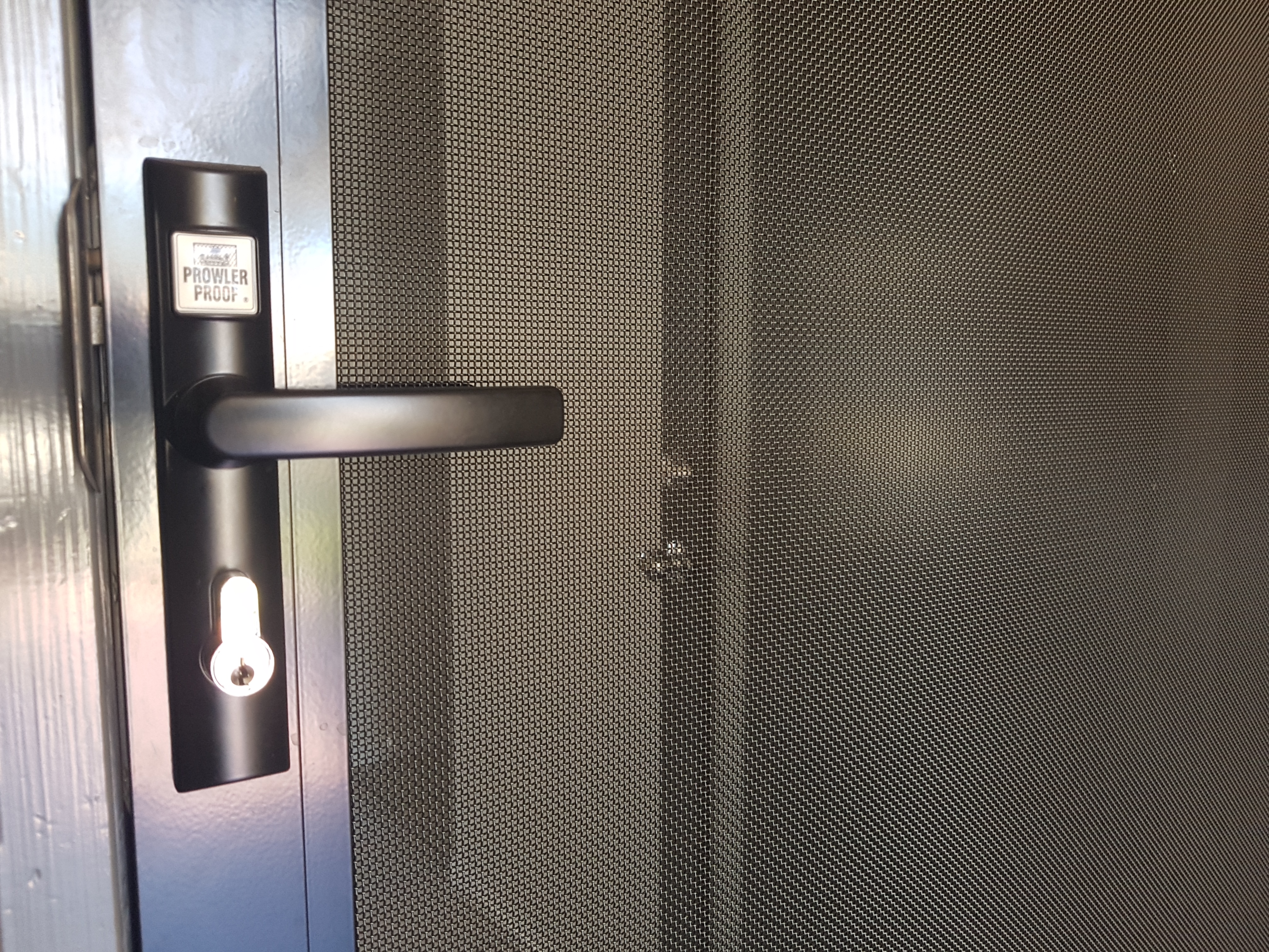 All security doors come standard with triple locks