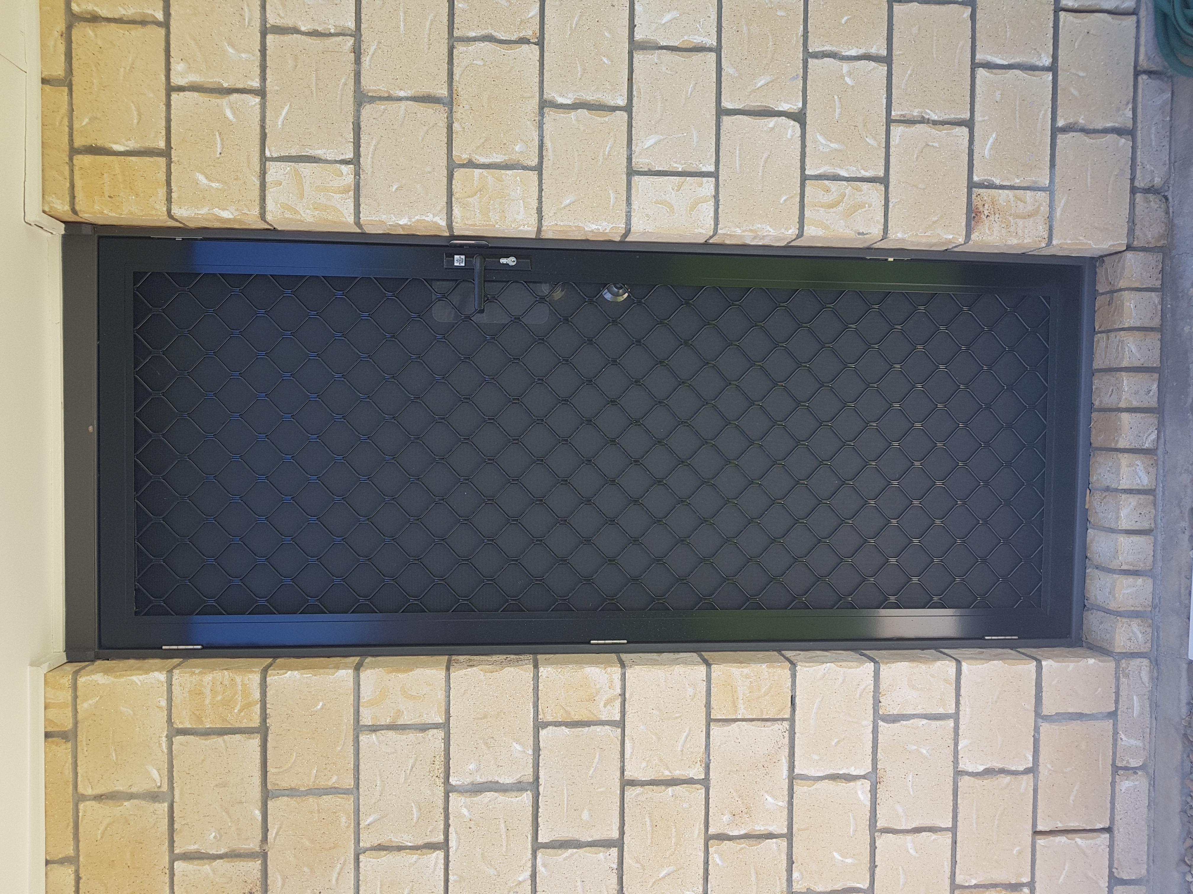 Black security door, Warner