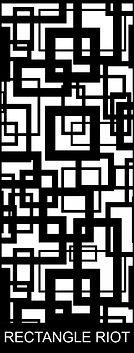 Rectangle Riot - Decoview lasercut security door design